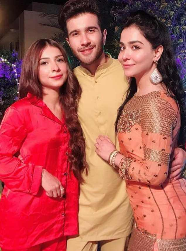 Humaima Malick with her sister and Brother